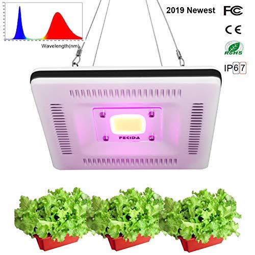 FECiDA Cob Led Crecer Luz Impermeable, Mejor Cultivo Luces Pata Interior Plantas, 300w CFL & HPS & CMH Equivalente, Espectro Completo y Ligero para Armario de Plantas,Suculento,Bonsái,Orquídea