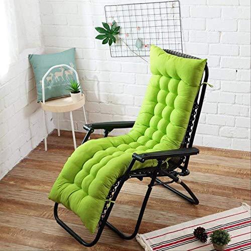 NoNo Zachte lange kussens voor in de tuin, ligkussen, dik, vouwbaar, schommelstoel, kussen, lange stoel, bank, zitkussen, pads 48x155cm grasgroen