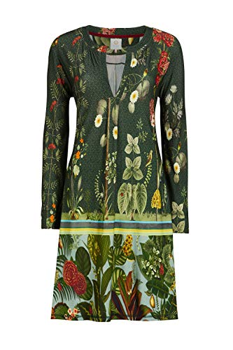 PiP Studio Damen Nachthemd Dancer babylon's Garden Nightdress Long Sleeve 260902, Wäschegröße:M