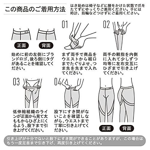 [グンゼ]着圧レギンスRIZAPライザップはいて歩いてカロリー消費アップ10分丈80デニールRZF201レディースブラック日本M-L(日本サイズM相当)