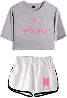 Artfish MAP of The Soul Persona Summer T Shirt and Sport Running Shorts Two Piece Suit