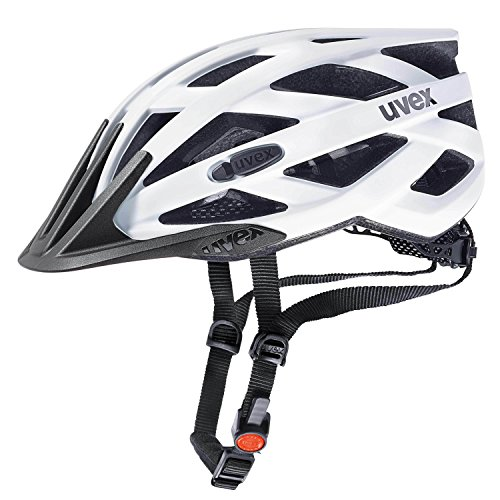 Uvex Fahrradhelm i-vo cc, White-Black mat, 52-57 cm