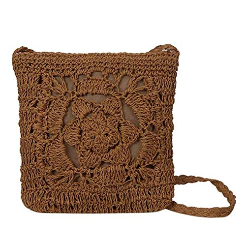 Strohtasche Gewebte Hollow Out Strandtasche Frauen Häkeln Fransen Stroh Clutch Handmade Day Clutches Stricken Weave Boho Summer Bag A