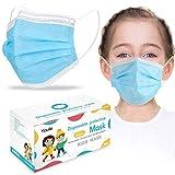 50 pcs Taglia Bambini Protezione del Viso in Meltblown Tessuto Non Tessuto nasello regolabile, Consegna entro 48 ore (Blu, 50)