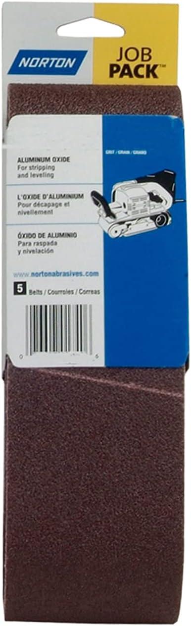 "Norton 07660700964 3x18"" Gemini Daily bargain High material sale R215 Oxide Aluminum Cloth P"