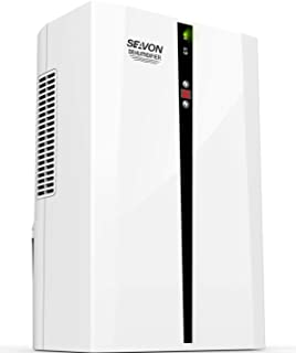 SEAVON Electric Dehumidifiers for Home, Quiet Control Humidity, 2200 Cubic Feet(270 sq ft), Auto Shut Off, Portable 2000ml (68 oz) Capacity Dehumidifier for Basement Bedroom, Bathroom, RV.