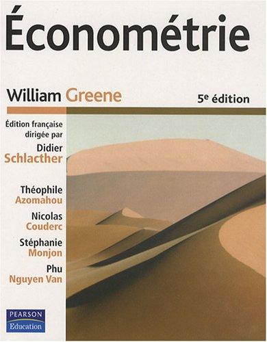 Econométrie (1Cédérom)