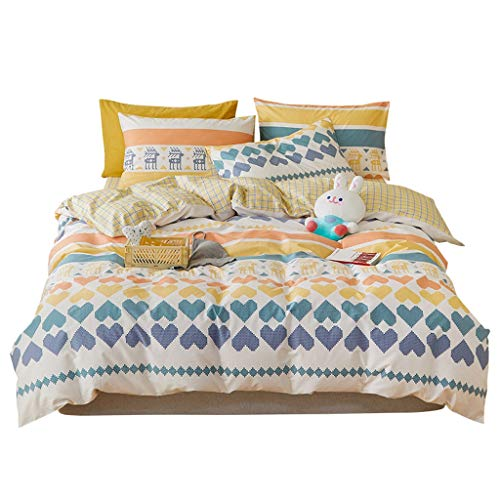 DYXYH Neue Quilt Cover Baumwolle vierteilige Set Familie Kinderbett Vier stück Set Quilt Einzelbett Set (Size : 1.8cm)
