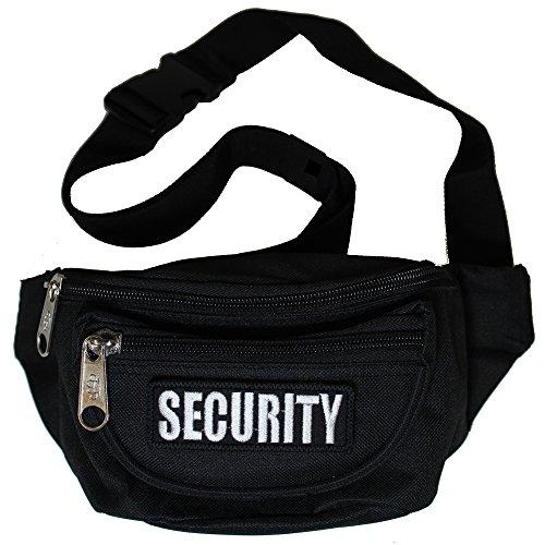 Bauchtasche Security Gürteltasche mit DREI Fächern und abnehmbaren Patch in schwarz