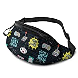 Cute Colorful Black Game Controller Fanny Pack Fashion Waist Bag