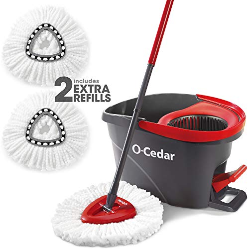 powerful O-Cedar Easywring Microfiber Spin Mop and Shovel Floor Washing System with 2 Additional Refills