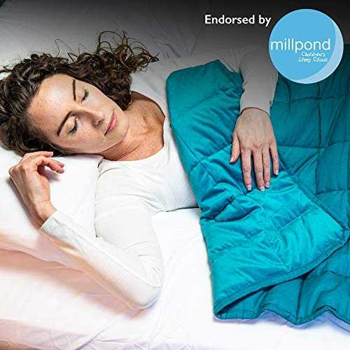 Rest Easy Weighted Blanket For Adults & Teenagers | Heavy Blanket for Sleep, Stress Relief, Anxiety Relief & Sensory Calming Blanket For Great Sleep | 100% Super Soft Cotton Material (7kg, Teal)