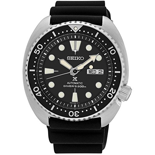 Seiko uomo Prospex mare 41mm nero in poliuretano fascia orologio automatico SRP777K1