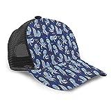 Aliciga Gorra de Beisbol para Hombres Mujeres Espalda de Malla Snapback,Pulpo en Colores violetas claros,Sombrero del Camionero Deportes al Aire Libre para Viajar