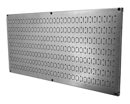 Wall Control Pegboard 16in x 32in Horizontal Galvanized Metal Pegboard Tool Board Panel