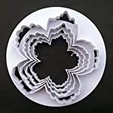 Bigger cortador de pétalos de peonía 4piezas Cortador de pasta de goma flores decoración de pasteles fondant mold azúcar herramientas byxbh