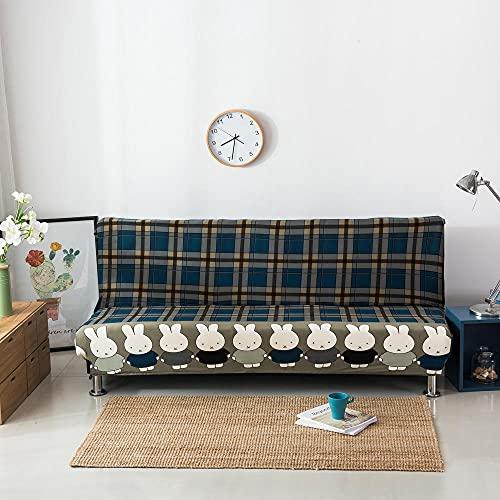 Fundas Decorativas para Sofás 3 Seater impresión Verde Oscuro Ajustables Antideslizante Protector Sofa de Muebles Funda de Sofá Elástica 1 Funda de Cojín (195-230cm)