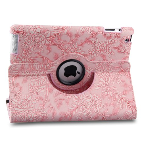 Cheap TOPCHANCES 360 Degrees Rotating PU Leather Case Smart Cover Stand for iPad Mini mini2 mini3 wi...