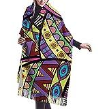 Sciarpa donna scialle in cashmere pashmina morbido e setoso in tilapia con nodi colorati