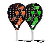 MLPNJ Raquette de Tennis de Cage de Raquette de Tennis de Plage de Fibre de Carbone avec surgrip