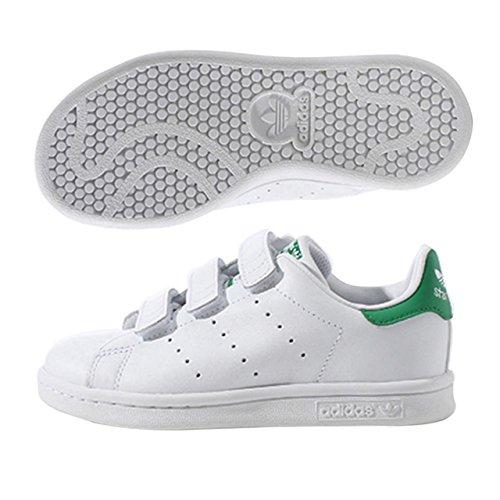 adidas Stan Smith - Zapato para niño, color blanco, 34