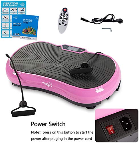 Display4top Ultra Slim Vibration Plate Exercise Machine (pink)