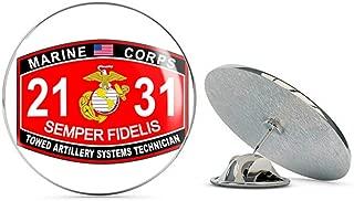 Veteran Pins Towed Artillery Systems Technician Marine Corps MOS 2131 USMC US Marine Corps Military Steel Metal 0.75