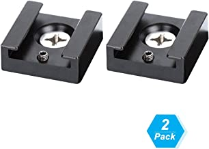 Cold Shoe Mount Aluminum Adapter Bracket Hot Shoe with 1/4 Thread for Camera Cage Flash