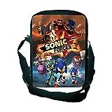 YUNXING Sonic Escolares Mochilas Sonic Crossbody Bag Estudiantes Hombres Mujeres Niños Niñas Bolsos Casuales Dibujos Animados Nuevo Hermoso Bolso De Viaje