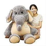 Annco (68 cm-128 cm - Poupée éléphant géante en peluche pour enfant, mignonne poupée apaisante, éléphant en peluche, décoration de lit, oreiller (128 cm)