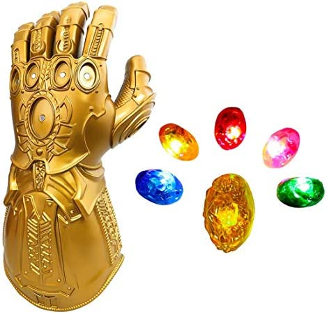 Bulex LED Light Up Infinity Gauntlet The Thanos Gloves with Removable Magnet Infinity Stones product image
