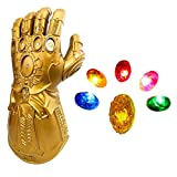 LED Light Up Infinity Gauntlet The Thanos Gloves with Removable Magnet Infinity Stones Adults