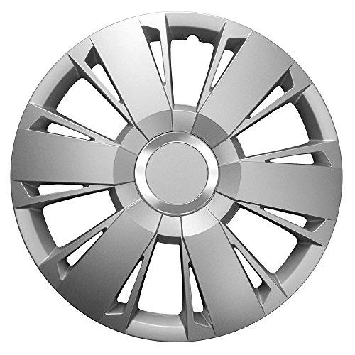 14pulgadas tapacubos Sportivo Silver (Plata). Tapacubos CON Anillo Cromado apto para casi todos los VW Volkswagen
