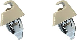 AutoCommerse 2 Stück Sonnenblende Halterung Haken Clip Sonnenschutz Aufhänger für Astra H Zafira B Vectra C Signum Autozubehör