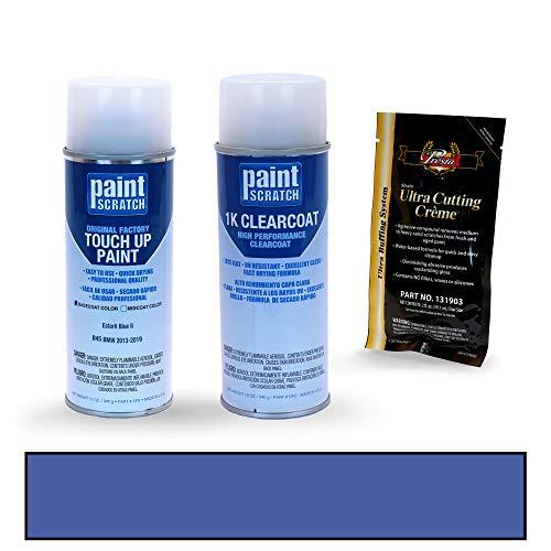 PAINTSCRATCH Touch Up Paint Spray Can Car Scratch Repair Kit - Compatible with BMW 3 Series Estoril Blue II (Color Code: B45)