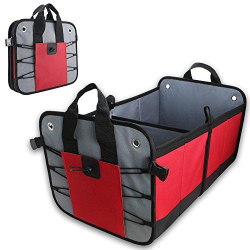 COFIT Organizador Plegable de Maletero con Fondo Impermeable para Coche, Picnic, Casa y Compras - Rojo y Negro