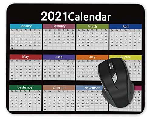 Special Design 2021 Calendar Mouse pad Gaming Mouse pad Mousepad Nonslip Rubber Backing