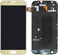 LCD Display with Frame & Touch Screen Digitizer Assembly Replacement Part for Samsung Galaxy S6 G920. (Gold)