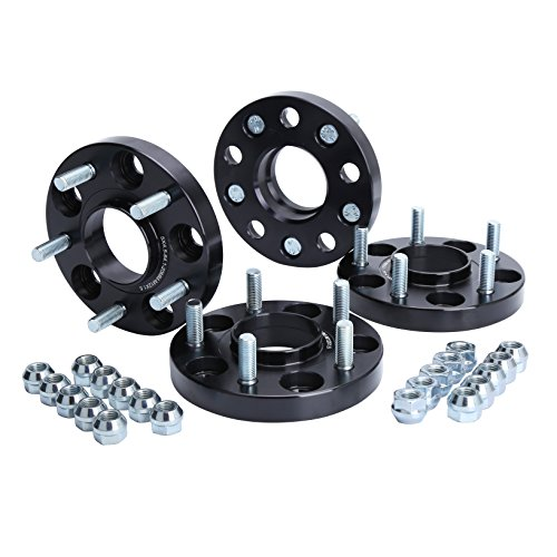 KSP 5X114.3mm Wheel Spacers 20mm Fit For A-c-c-o-r-d Civic CR-V Element Acura CL ILX RSX TLX TSX MDX Forged Hubcentric 64.1mm bore, 12x1.5 Studs Black FOR 5 Lug Tires(4pcs)