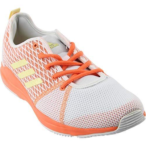 adidas Arianna Cloudfoam - Tenis de correr para mujer, color naranja solar, blanco, talla 42
