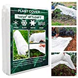 Plant Covers, 8Ft x 24Ft Reusable Floating Row Cover, 1oz Freeze Protection Plant Blankets...