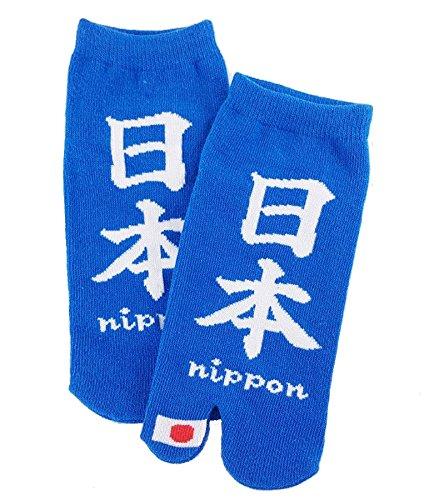 Chaussettes tabi 'Nippon' japonais Split 2-toe Ninja Flip Flop Sandales Geta Senior Socquettes mixte homme femme