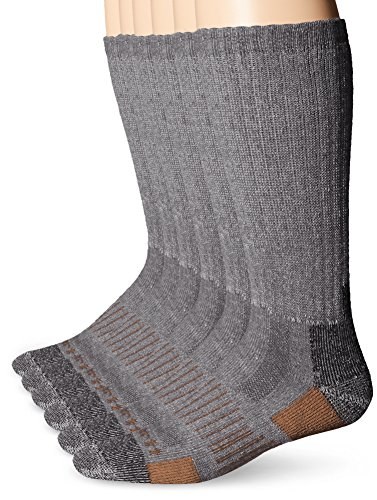 Carhartt Men's 6 Pack All-Terrain Boot Socks, Grey, Shoe