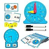 Juego de Juguetes de Aprendizaje Tell The Time Clock, Juego de Reloj de Aprendizaje,Juego de Reloj...