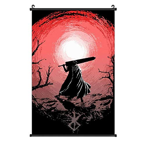 Obito Sunset Glow Berserk Guts Wall Art Print Wall Hanging Scroll Poster Artwork Painting for Home Decor Fans Gift Living Room Bedroom