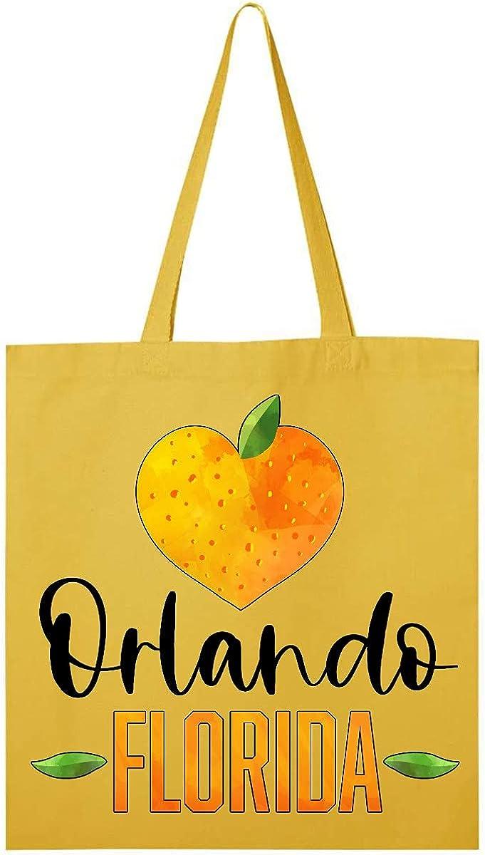 Inktastic Orlando Florida Orange in Heart Tote Bag