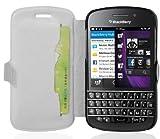 Cadorabo Hülle für BlackBerry Q10 - Hülle in ICY WEIß