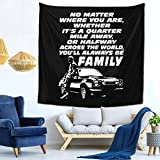 FBIIIOU Fast and Furious 9 - Paul Walker Forever Tapestry Retro Wall Hangings Boutique Tapestry Psychedelic Tapestry Pink Tapestry Home Decoration Tapestry 59 59inch