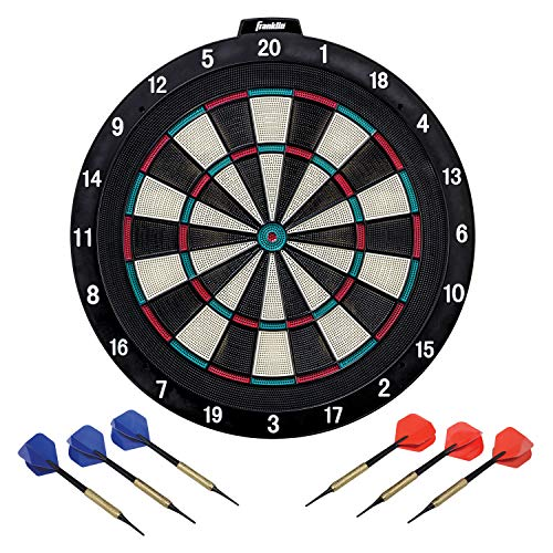 Franklin Sports Soft Tip Dartboard, 18x1-Inch