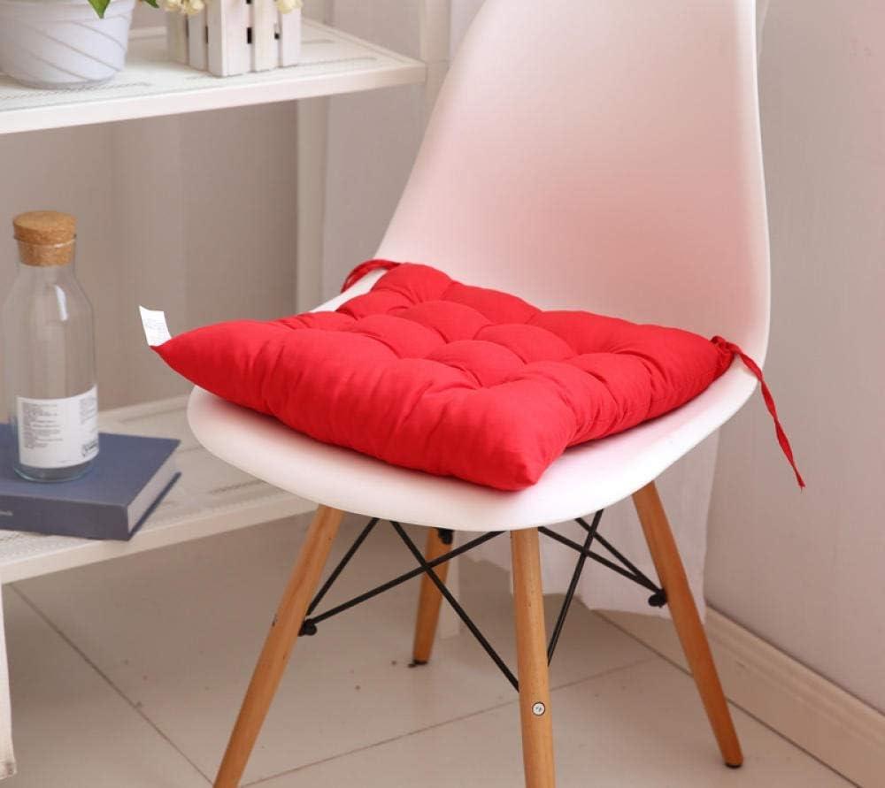 WEMUR Cojines para sillas El Amortiguador del Sofá Directos Nueva Silla Tatami Cojín del Sofá Color Sólido Asiento Estudiante De Fábrica Cojín De Ventas-Red_40 * 40cm (Color : Red, Size : 40 * 40cm)